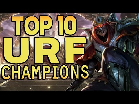 Top 10 Ultra Rapid Fire (URF) Champions - League of Legends