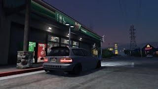 GTA 5 PC | 400+HP Street EG Hatch Car Mod | Build, Cruise, & Test Pulls