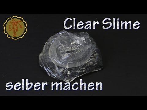 Clear-Slime selber machen - DIY - ohne Waschmittel und ohne Boraxpulver
