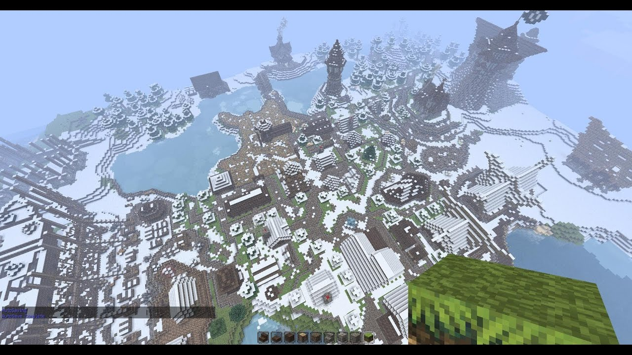 средневековый город - карта для Minecraft 1.5.2
