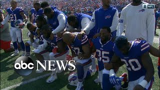 More NFL players join peaceful protest against racial inequality