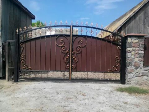 Кованые ворота своими руками. Первая работа.
