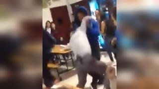 Watch High School Student Body Slam Principal During Cafeteria