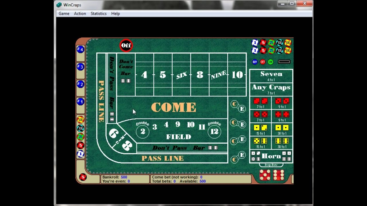 Craps Intro The Table Layout Avi Youtube