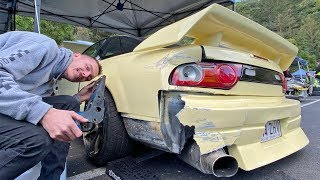 Crashed my 180SX into a Guardrail....