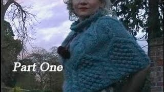 HOW TO KNIT AN ARAN CAPELET or PONCHO - Free Cabled Poncho Knitting Pattern Tutorial Part 1 of 3.
