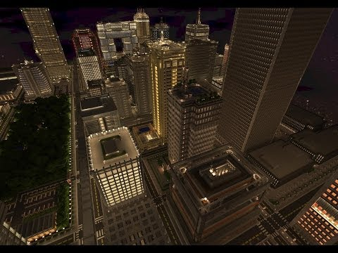 Minecraft Xbox 360 Edition - City Texture Pack on a Large City Map
