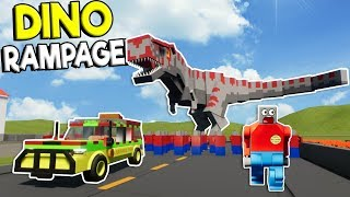 DINOSAUR DISASTER IN LEGO CITY! - Brick Rigs Roleplay Gamplay - Lego Dino Movie