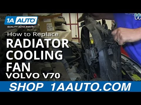 How To Install Replace Engine Radiator Cooling Fan 2001-03 Volvo V70