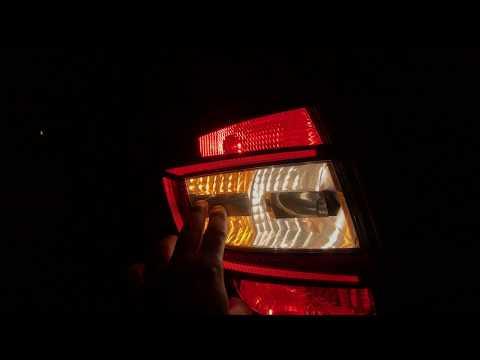 Обновленная Skoda Rapid в ночном обзоре - козырки в фарах!