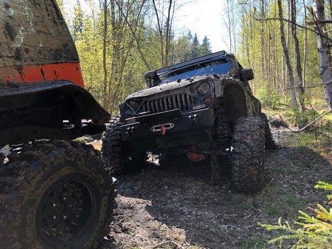 Эвакуация из леса Jeep Wrangler Rubicon