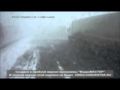 ДТП в Татарстане на заснеженной трассе М7