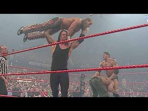 John Cena & Shawn Michaels Vs. Undertaker & Batista: Raw, video