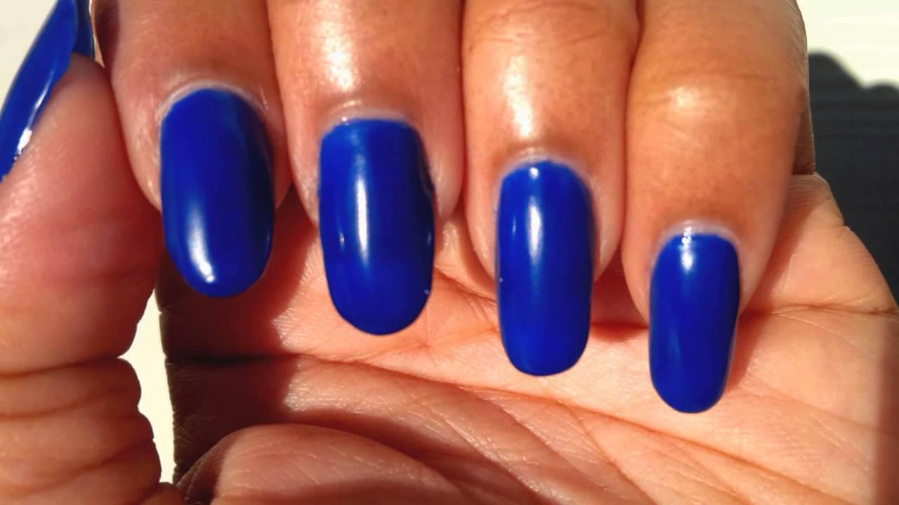 Electric Blue Matte Nail Polish Electric Blue-galoo Nail