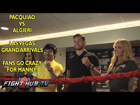 Pacquiao vs Algieri  Las Vegas grand arrivals  Fans crazy for manny