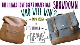 Fawn Design and Little Unicorn Diaper Backpack comparison, review and packing.