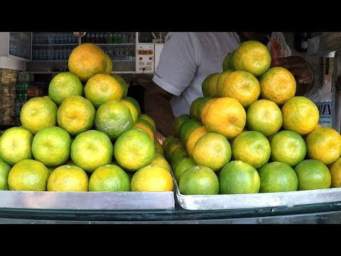 Freshly Squeezed Orange Juice - Healthy Street Food | Tasty Fruit Juice Recipes