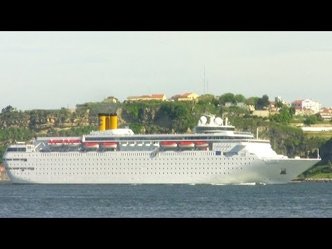 Costa Classica Cruise Ship on Tagus River - Lisbon | Lisboa HD