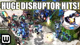 Starcraft 2: HUGE DISRUPTOR HITS! (HeRoMaRiNe vs ShoWTimE)