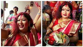Subho Bijoya Dashami - 🔴Sindoor Khela Dance - Play with Sindoor-vijayadashami 2017🙏