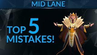 TOP 5 MISTAKES Mid Players Make | Dota 2 Pro Guide