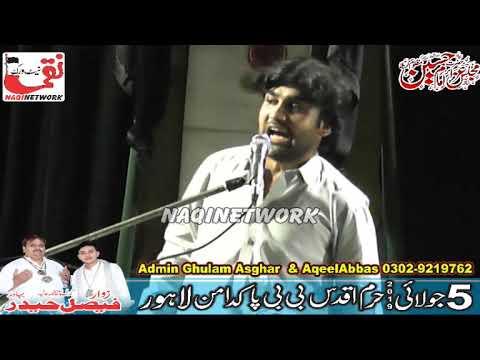 zakir Malik Qalab Abbas Alvi  5 July 2019 Majlis Aza Haram BiBi pak Daman  Lahore