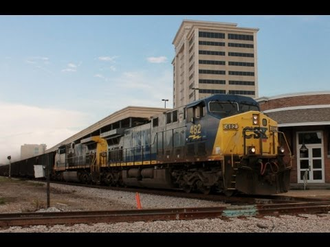 (HD) Railfanning Gulfport, MS Featuring UP & KCS 8-16-2012