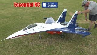 GIANT SCALE Sukhoi SU-27 TWIN ENGINE JET (CARF Models): Weston Park 2016