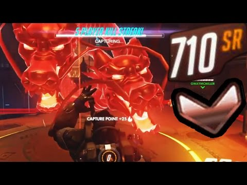 Overwatch Bronze Moments #4 - Emoting vs a Dragon
