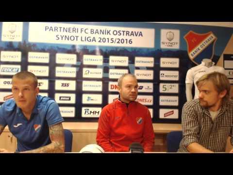 Tisková konference FC Baník Ostrava před utkáním s 1. FC Slovácko