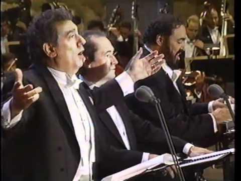 שלושת הטנורים שרים O Sole Mio