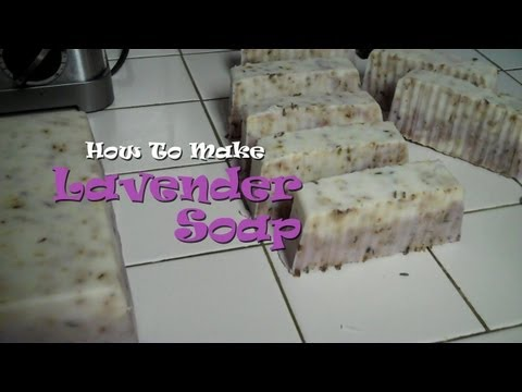 How To Make Lavender Soap at Home! (with Shea Butter and Sunflower Oil)