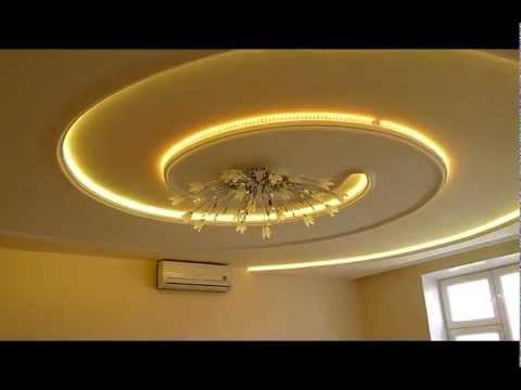 Как сделать потолок из гипсокартона с светодиодной подсветкой
