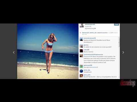"""Elena Santarelli in bikini, i fan la criticano """"Sei troppo magra"""""""