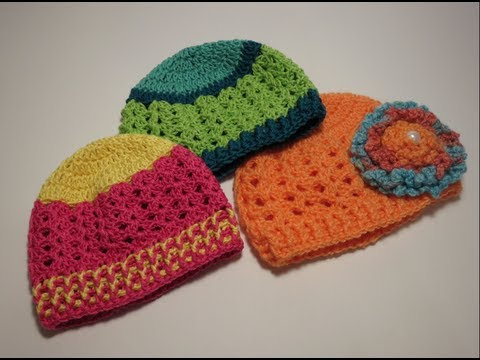 كروشيه قبعه  Crochet Hat 0-3 Music Videos