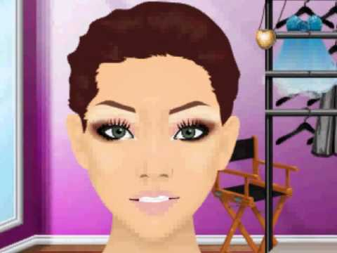 Stardoll makeover-a soft winged eye makeup.