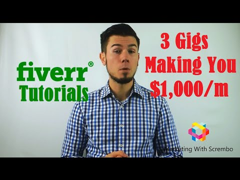 Fiverr Tutorial - Tricks And Tips With 3 Gigs Presentation Making You $1,000 a Month