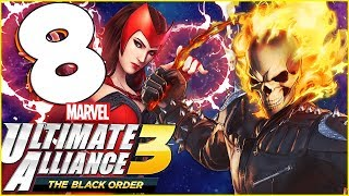 Marvel Ultimate Alliance 3: The Black Order Walkthrough Part 8 GHOST RIDER Dark Dimension! (co-op)