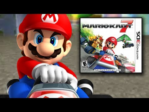 Mario Kart 7 Unboxing / New Characters. Courses. Maps. and Items!