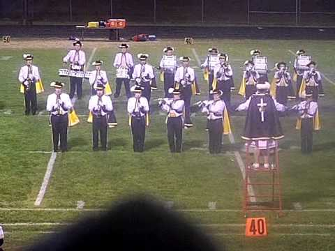Luther High School Marching Band field show - 10/15/2012