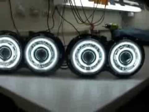 Quad 5 3 4 Quot Round 4 55 Watt Hid Bi Xenon Projector