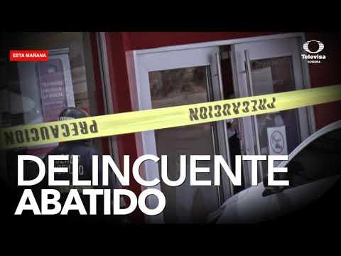 Liberan a rehenes y muere asaltante en banco de Hermosillo
