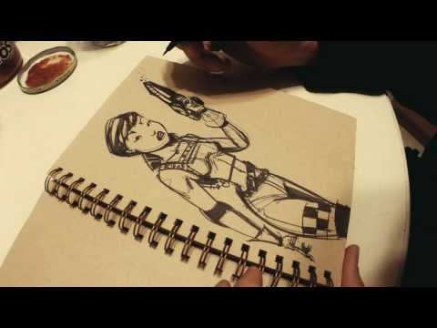 Eric Affleck Speed Drawing