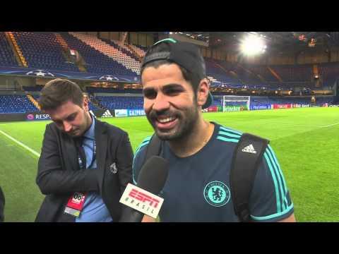 Diego Costa - joker behind the scenes - bastidores Chelsea