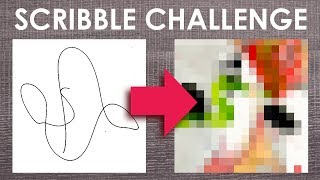 Can I turn a SCRIBBLE into ART? - THE SCRIBBLE CHALLENGE