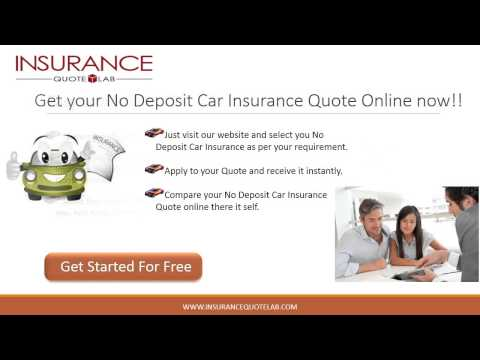 No Deposit Auto Insurance with Full Coverage