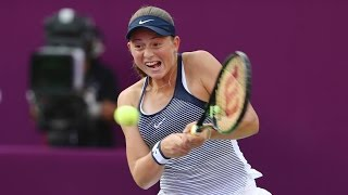 2016 qatar total open round of 16 jelena ostapenko vs petra kvitova wta highlights
