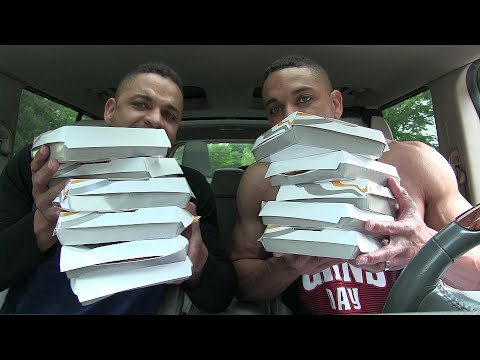Taco Bell 10 Mexican Pizza Challenge @hodgetwins