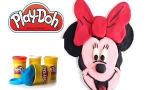COMO HACER MINNIE MOUSE CON PLASTILINA PLAY DOH.HOW TO MAKE  MINNIE MOUSE WITH PLAY DOH PLASTICINE.