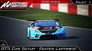 Assetto Corsa Competizione | GT3 Beginner Car Setup - How to get FASTER LAPTIMES | Part 1